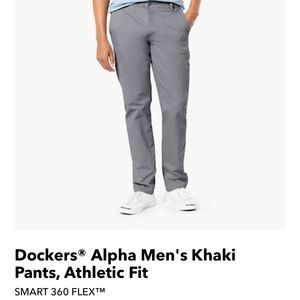 NWOT Docker's Gray Alpha Khaki casual pants, 33x32